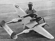 "Model Airplane Plans (RC): LOCKHEED P-38 L LIGHTNING 1/6 Scale 94""ws .60 Engines"