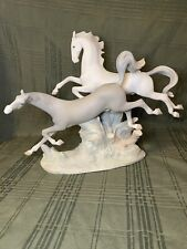 Vintage 1969 Lladro Figurine-Galloping Horses #4655 M-Scarce-Group Retired 2000