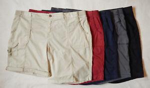 NEW Sonoma Womens Bermuda Comfort Khaki Red Grey Navy Black Shorts 20W–24W
