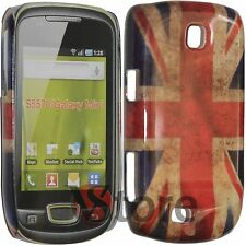 Cover Per Samsung S5570 Galaxy Mini Next Turbo Bandiera Inglese Retro rigida