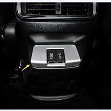 FOR HONDA CR-V CRV 2017 2018 Matt Chrome Armrest Storage Box Rear USB cover trim