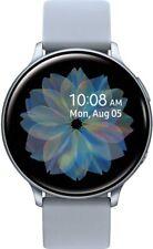 Samsung Galaxy Watch Active2 R820-44mm Silicon Strap + Aluminum Bezel - Silver