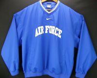 VTG NIKE USAFA Air Force Falcons Windbreaker Blue White Pullover Men's XL Jacket