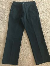 COLUMBIA Womens Size 4 Short Cotton Elastane Blend Casual Black Flat Front Pants