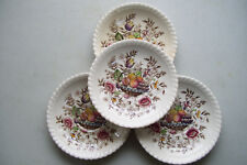 """Set Of  4 Johnson Bros Windsor Ware POMONA 5.5"""" Saucers Only No Cups England"""