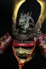 Japanese Samurai Kabuto Helmet -big dragon with a mask- Massive Red