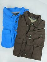 ExOfficio Mens XL Shirt Button Down Long Sleeve Vented Outdoor Travel Lot of 2
