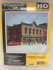 Goodfellows Hall DPM Building Kit HO Structure #10800 Model Railroad or Diorama