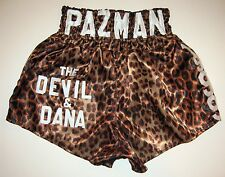 "Vinny ""Paz"" Pazienza Boxing Fight Worn Used Leopard Trunks Paz Loa"