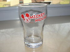 Red Disney Mickey Mouse Glass Tumbler Coke Glass Shape