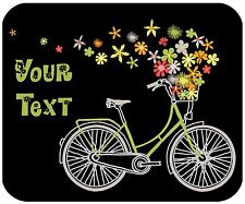 MOUSE PAD CUSTOM PERSONALIZED THICK MOUSEPAD - BICYCLE 1- ADD ANY TEXT FREE