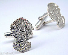 Sigma Pi, ΣΠ, Fraternity Crest Sterling Silver Cufflinks By McCartney