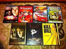 DVD Bundle: Final Fantasy,Incredibles,Cars,Shrek,Beautiful Mind,Blood, Kill Bill