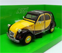Welly 1/24 Scale Model Car 24009W - Citroen 2CV 6 Charleston - Yellow/Black