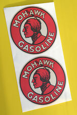 HOT ROD Retro worn 'MOHAWK GASOLINE' vintage GAS AND OIL Sticker Decal Chevy