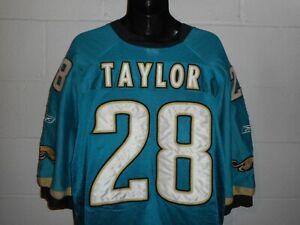 Vintage Reebok Authentic Pro Cut #28 Fred Taylor Jacksonville Jaguars Jersey 56