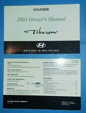 Used 2001 Hyundai Tiburon Owner's Manual FO-000826(A)