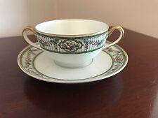 2-Handled Porcelain Teacup and Saucer~~Paul Muller Selb, Bavaria