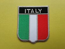 WORLDWIDE FREEPOST COUNTRY SHIELD FLAG SEW & IRON ON PATCH - ITALY