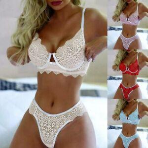 Women Sexy Push Up Bra Sets Lingerie Nightwear Knickers Thong G-String Underwear