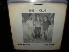 """CLUE next to you / norm ( rock ) 7""""/45 picture sleeve"""
