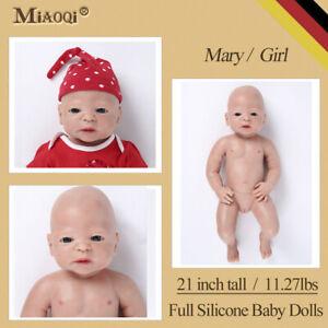 "Full Silicone Reborn Baby Doll Handmade Newborn Lifelike Realistic Baby Girl 21"""