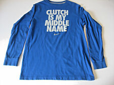 "Nike ""Clutch Is My Middle Name"" Long Sleeve Knit Shirt Youth Large"