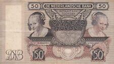 🇳🇱 50 Gulden - 1941 - Niederlande - P-58 🇳🇱