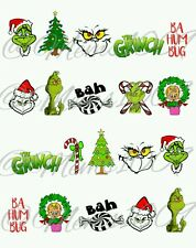 The Grinch Nail Art (Water decals)!  Christmas Nail art decals