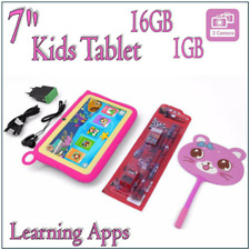 """7"""" Kids Tablet Android 7 16GB Quad Core Dual Camera WiFi Bluetooth Child"""