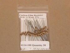 10 Ohm 1/4 Watt   5% Carbon Film Resistors (50pcs)  New Stock  USA Seller