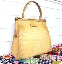3923d7819396e COMTESSE Vintage Leder Kroko Tasche Bag Handtasche Leather Purse Jackie O.  Croco