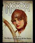 Z+P+Nikolaki+Illustrated+Cover+Only+Motor+Magazine+Pretty+Girl+Driving+July+1914