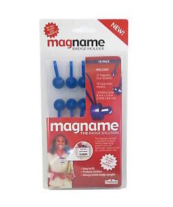Magnetic Name Tag Badge Fastener Id Holder Card Magnet Magnetic Badge Pin