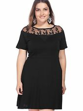 Unbranded Cotton Blend Solid Plus Size Dresses for Women