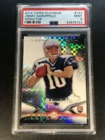 JIMMY GAROPPOLO 2014 TOPPS PLATINUM #143 XFRACTOR REFRACTOR ROOKIE RC PSA 9