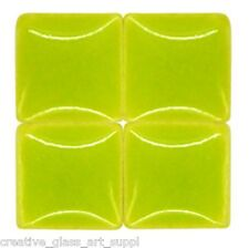 50 - 3/8 inch LIME GREEN Ceramic Mosaic Tiles