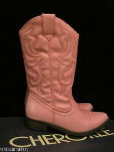 CHEROKEE GREGORIA PINK WESTERN COWBOY~COWGIRL BOOTS~GIRLS 13~1~2~3~4~5~6~NWT