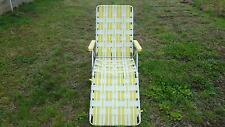 Vintage Old Yellow Lawn Chair Sun Terrace Brand w/ damage; furniture, summer