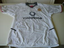 maillot de foot Manchester Nike Vodafone blanc white L jersey