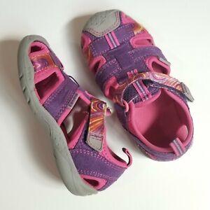Pediped Sahara Flex Toddler Girls 23 7 Pink Purple Washable Water Sandals Shoes