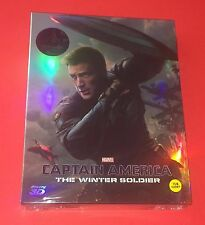 Captain America Winter Solider Blu ray KimchiDVD Steelbook Full Slip A2 MINT