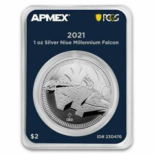 Star Wars 2021 Niue 1 oz Ag $2 Millennium Falcon (MD® Premier + PCGS FS)