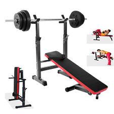 Heavy Duty Folding Preacher Weight Bench Gym Equipment Adjustable Barbell Rack