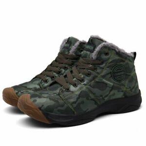 Nuevas botas zapatos para hombres trabajo de felpa de invierno nieve cálidos