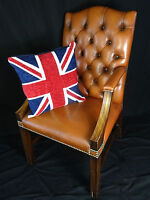 Fine Handmade Regency Leather Chesterfield Gainsborough Style Office Armchair