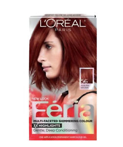 L'Oreal Paris Feria 56 Auburn Brown Multi-Faceted Shimmering Color 3x Highlights