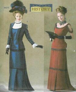 PATTERN for Victorian dress Butterick 4212 Titanic style Sz6-16 Edwardian suit