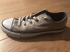 e8f753caef9d18 Converse All Star OX Leather Gold Low Trainers. UK 4. Used.