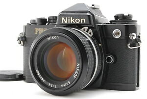 EXC+++++/ NIKON FE2 Black + Ai 50mm F1.4 SLR Film Camera from Japan #1427